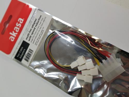 cabo adaptador multi-fan com redutor de velocidade - akasa