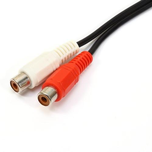 cabo adaptador p2 macho 3,5mm x rca fêmea - original