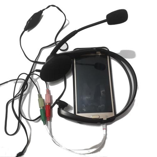 cabo adaptador p2 microfone fone headset smartphone promoção