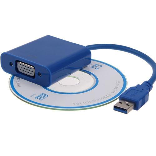 cabo adaptador usb 3.0 2.0 p/ vga resolução até 1920x1080!