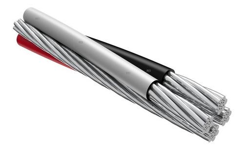 cabo alumínio multiplex quadriplex 4x10mm  rolo 42 metros