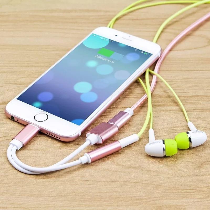 a89f35dcf4b cabo apple iphone 7 7 plus p/ ouvir musica+carregar 2 em 1. Carregando zoom.