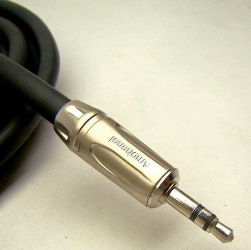 cabo áudio balanceado  2 x p2 estéreo  2m amphenol mogami