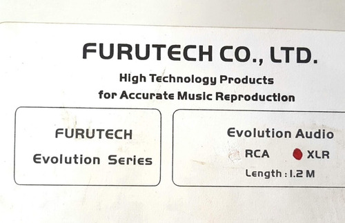 cabo audio xlr furutech high end evolution series novo