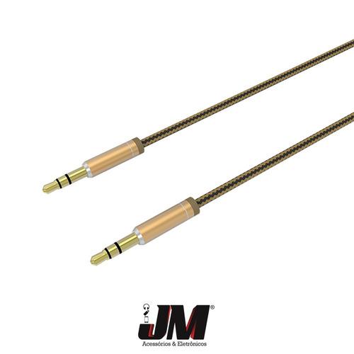 cabo auxiliar p2 p2 ldnio 3.5mm de 1m frete-grátis