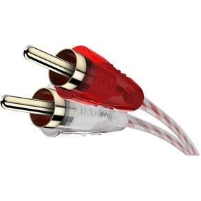 cabo coaxial 2 + 2 rca cristal mxt automotivo 1 metro