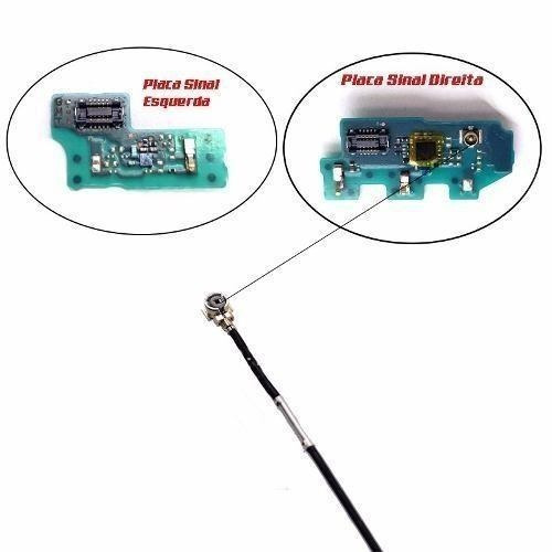 cabo coaxial + placa wifi antena sinal sony xperia z3 d6643