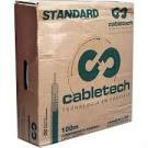 cabo coaxial rg 59 cable tech 100m  malha branco 60% profi.