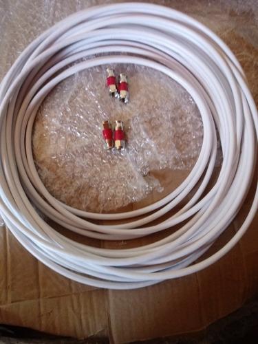 cabo coaxial rg59 40 mt + 4 conectores