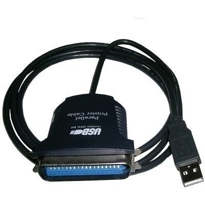 cabo conversor paralelo p/ usb impressora + cabo de energia