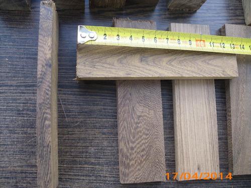 cabo cuchilla,tablitas para encabar,guayubira 1x3,5x13,5cm.