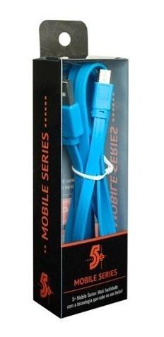 cabo dados azul micro usb flat samsung lg motorola 018-0043