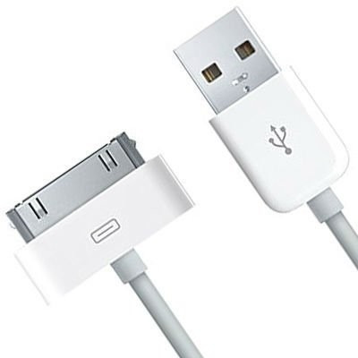 cabo dados usb iphone 4 4g 4s 3g ipad 2 metros