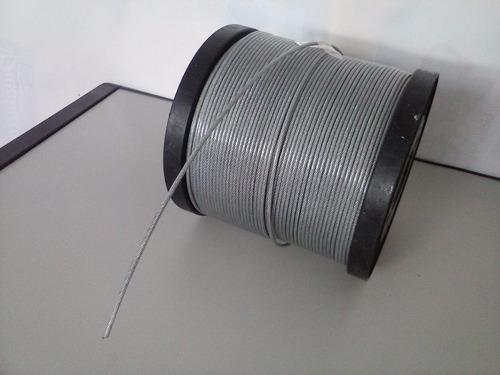 cabo de aço 2,4 mm x 3/32 externo 3.2 mm revestido 100mts