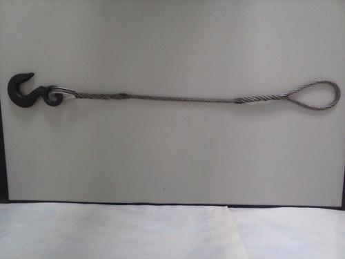 cabo de aço 3/8 para arraste com 3.5 mts