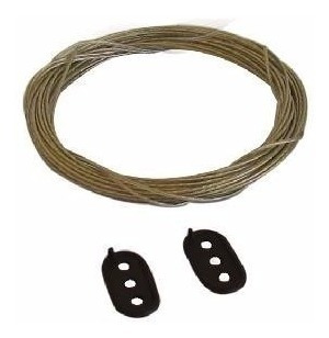 cabo de aço revestido p/ varal - 15 mts  roupa