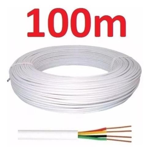 cabo de alarme 4x40 4 vias 0,12mm 100m branco piazza