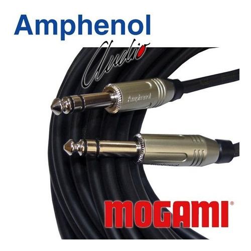 cabo de áudio balanceado p10 stéreo 3m mogami amphenol