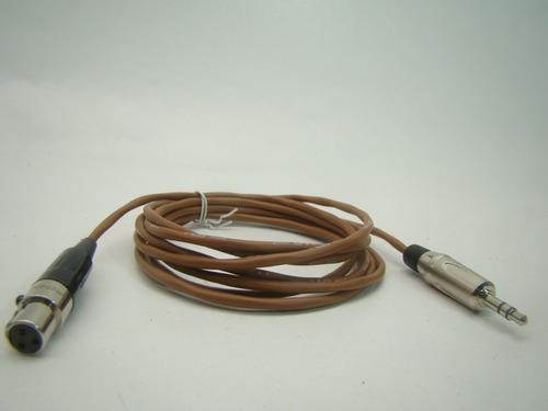 cabo de áudio balanceado para patch mogami 2,8mm marron