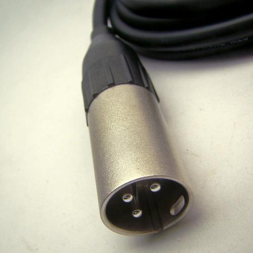 cabo de áudio balanceado xlr fêmea x xlr macho 2m amphenol