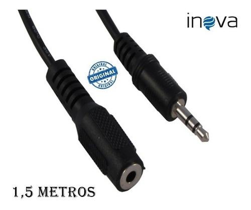 cabo de áudio p2 extensor extensão macho e fêmea 1.5 metros