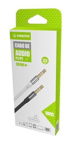 cabo de áudio p2 flat kimaster-original  1 metro