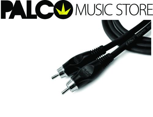 cabo de audio preto conectores rca x rca mod ac4