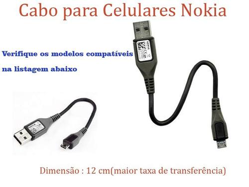 cabo de dados nokia lumia 930 720 640 1520 532 asha original