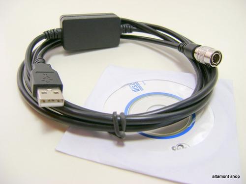 cabo de dados para estação total topcon,  sokkia