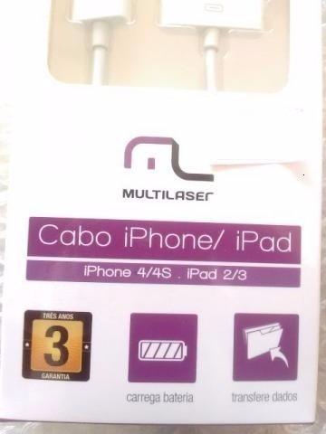cabo de dados para iphone 4s/4 e ipad 3 wi255 garantia 3 ano