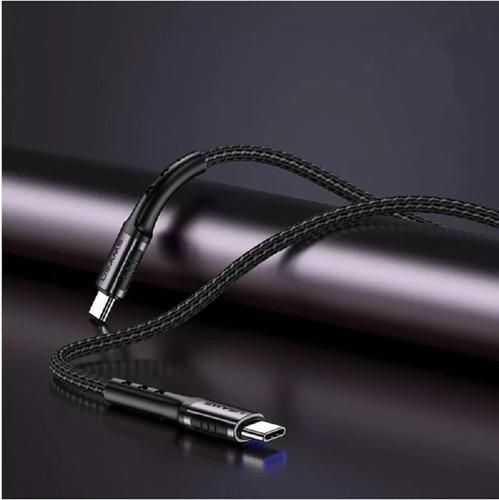 cabo de dados  usams u25 nylon trança tipo-c para tipo-c 3a