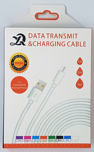 cabo de dados usb/micro usb 3 metros branco