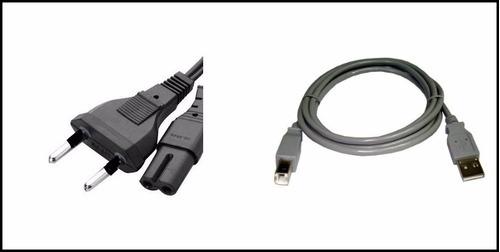 cabo de força para impressoras epson + cabo usb