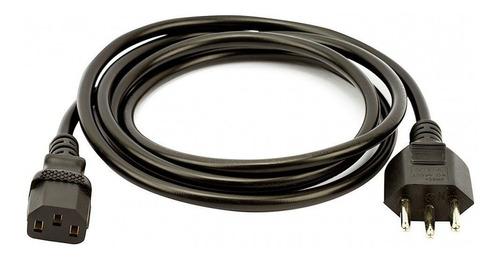 cabo de força tripolar ac pc 3x0,75mm plug 10 amperes 3,00m