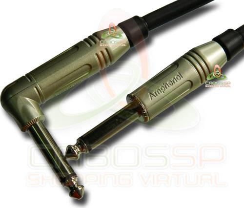 cabo de guitarra p10 l / p10 l mono 5 m - amphenol/sparflex