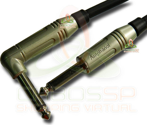 cabo de guitarra p10 / p10 l mono 8 m - amphenol/sparflex