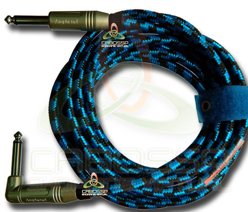 cabo de guitarra textil p10 / p10 l mono 1 metros -amphenol