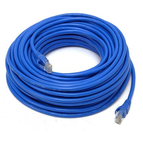 cabo de rede azul 30 metros rj45 crimpado cat5e internet lan