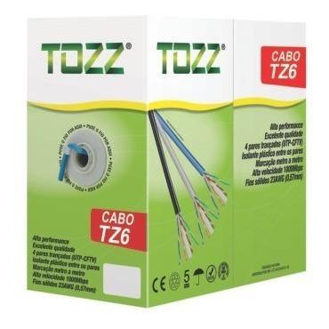 cabo de rede cat-6 tz6 utp internet cftv rolo c/ 305mts tozz