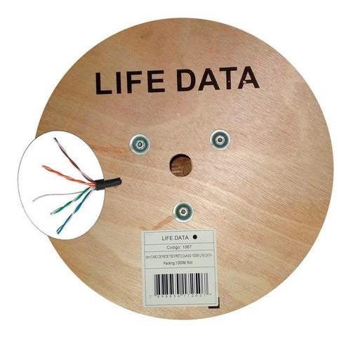 cabo de rede cat5e 4 pares caixa com 1000m preto l.data cat5