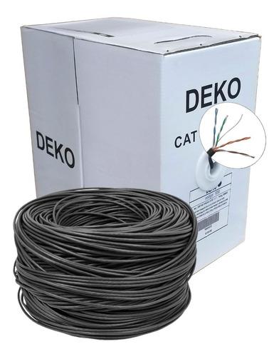 cabo de rede cat5e 4 pares caixa com 305m preto deko cat5 para redes de comunicação computadores câmeras segurança sftv