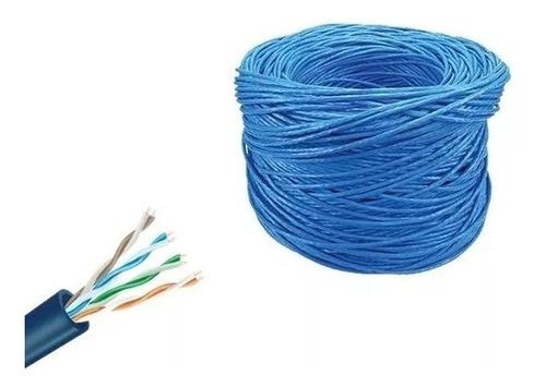 cabo de rede cat5e azul 305m cat5-e cat-5e utp lan tda
