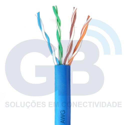 cabo de rede cftv cat5e 4p cca caixa 305m azul next cable