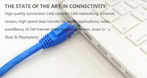 cabo de rede patch cord cat6  especial injetado .'.