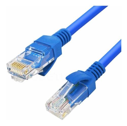 cabo de rede rj45 15m ethernet lan rj45 cat5e azul 15 metros