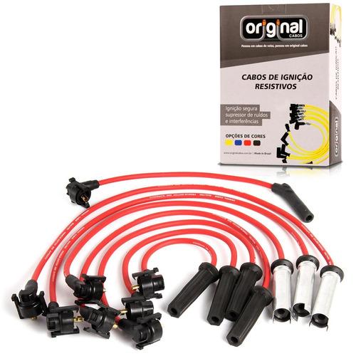 cabo de vela 8mm ranger 4 cilindros - 8 cabos 2.3 8v