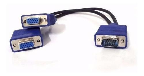 cabo divisor splitter vga 2 saídas simultâneas fullhd 1080p