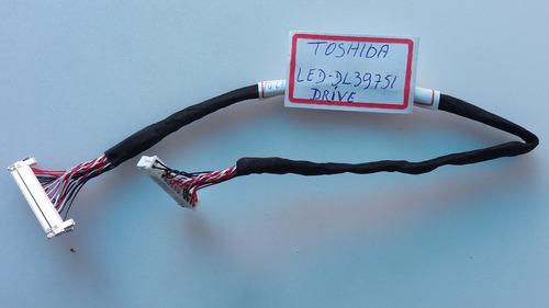 cabo drive da tv toshiba - led - dl39751