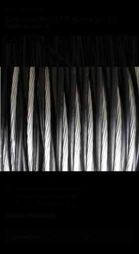 cabo duplex 16 mm 2x 16 alumínio com 50 metros por 150