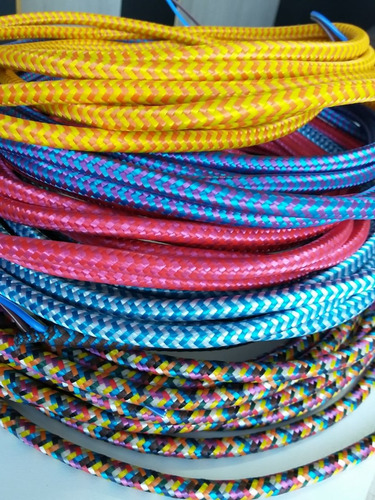 cabo elétrico coberto ou revestido com tecido rolo 20 mts